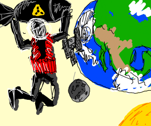 terrorist wants to destroy the world