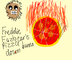 Freddy Fazbear's Pizza burns down