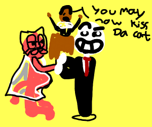 garfield and sans are getting married