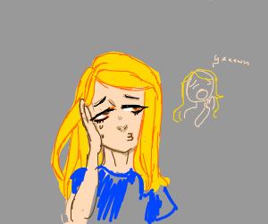 bored blondie