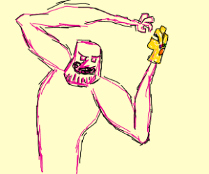 Thanos with insanely long hands