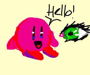 kirby visits an eye