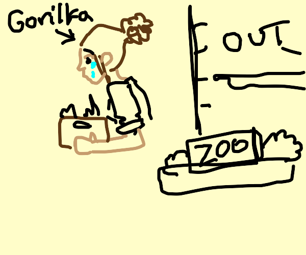 gorilka gets laid off from zoo