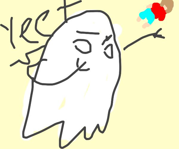 ghost yeeting some random asshole
