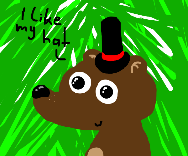 bear with hat