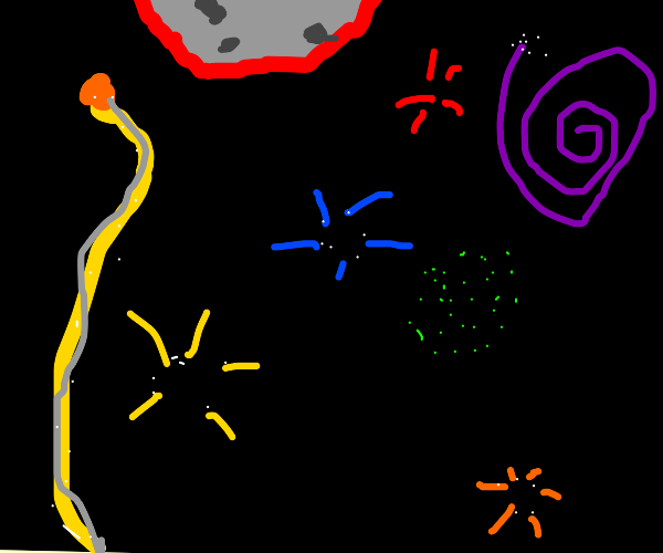 Fireworks on July 4th