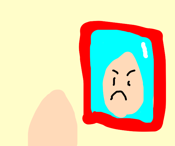 Egg doesn't like it's reflection