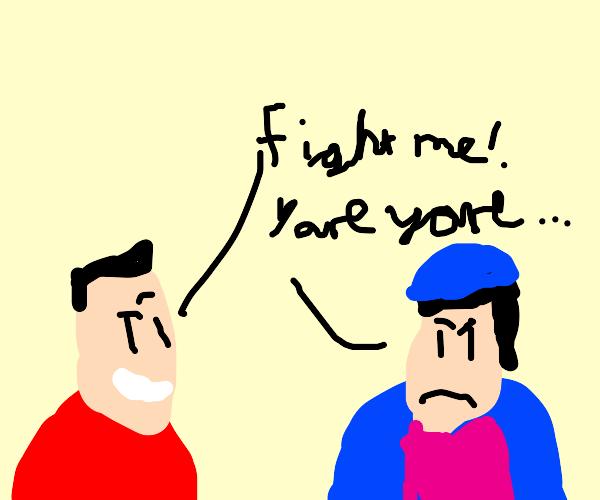 Gaston challenges Jojo to a battle