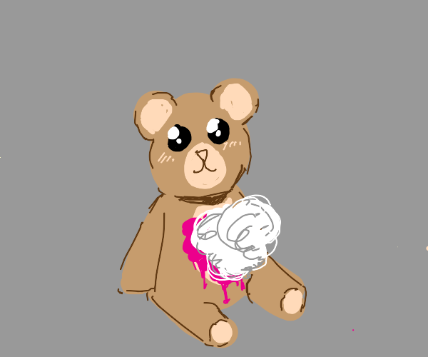 teddy bear got ripped apart