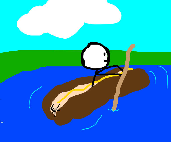 Rowing the hot dog boat