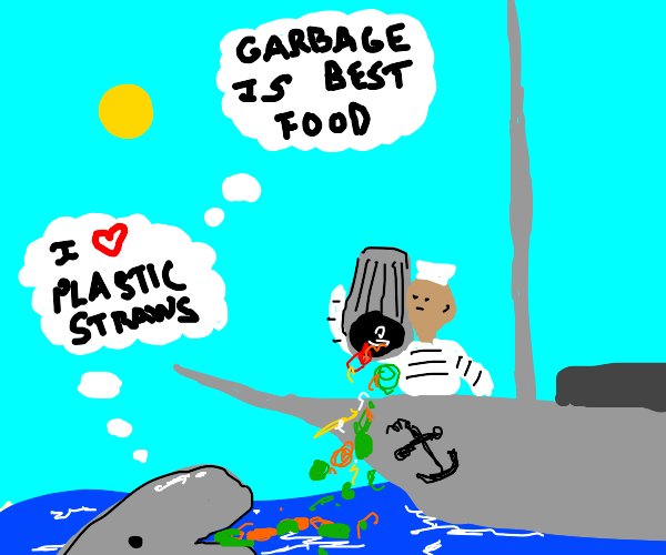 Save teh whales by NOT DUMPING GARBAGE