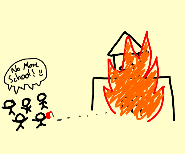 kids burn down a school