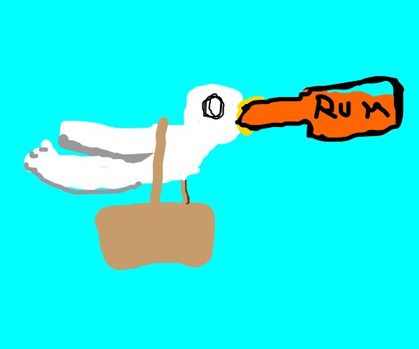 carrier pidgeon wants that rum