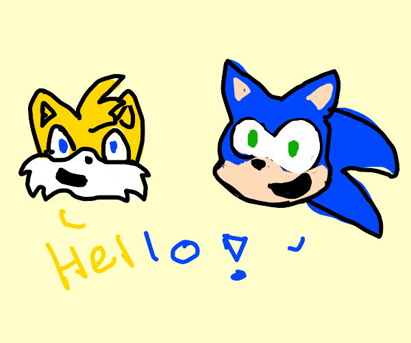 sonic and tails greet you
