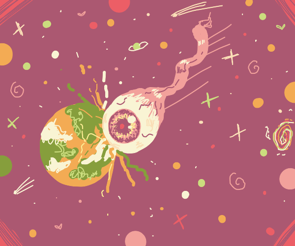 Eyeball crashes onto earth