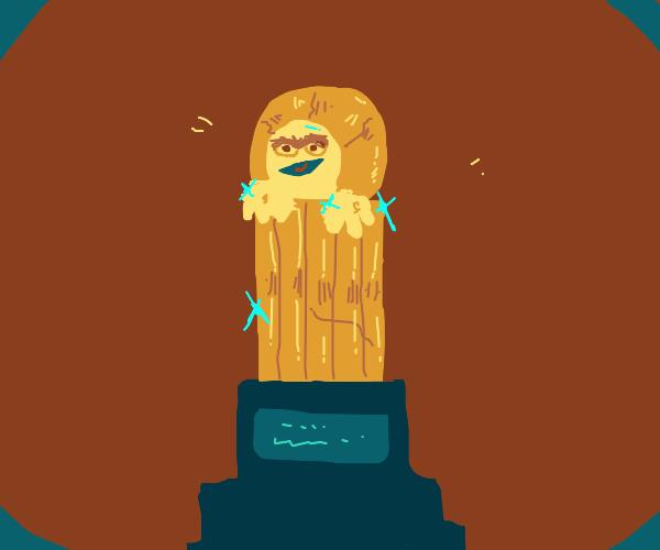 golden oscar the grouch statue