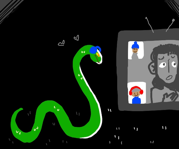 Snake watches a Let's Play