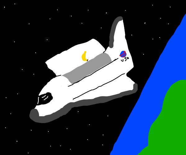 space shuttle releases the space banana