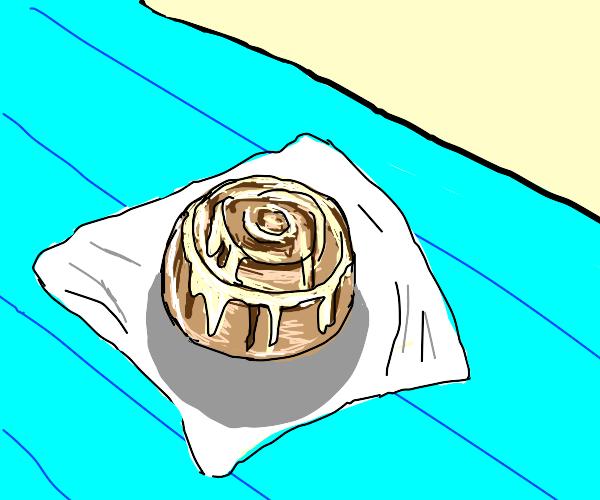 Cinnabon with icing.