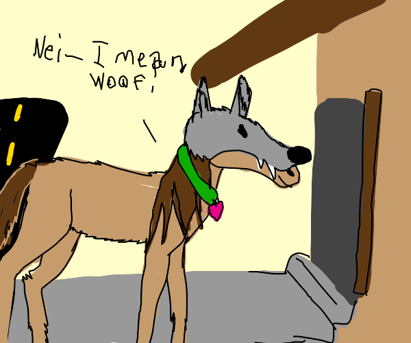 Horse disguised as a dog