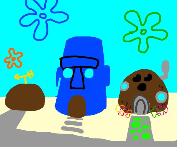 spongebob lives in a coconut