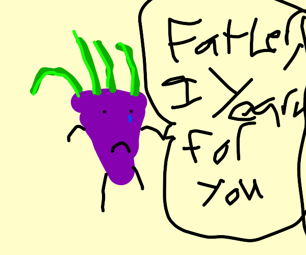 a turnip longs for his father