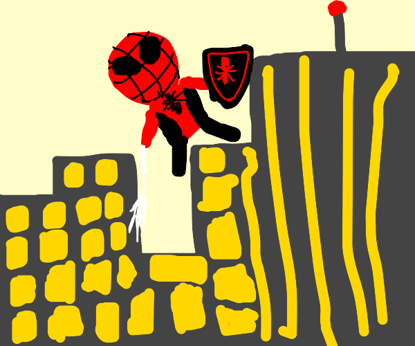 Spiderman with a shield