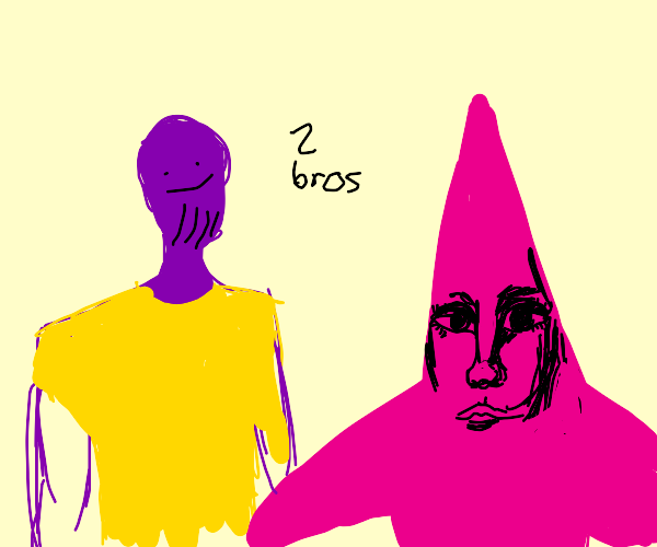 thanos and patrick star ...just chillin
