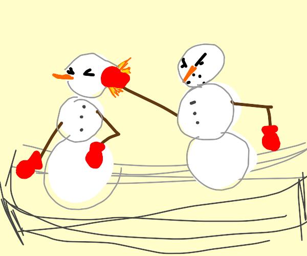 snowmen boxing