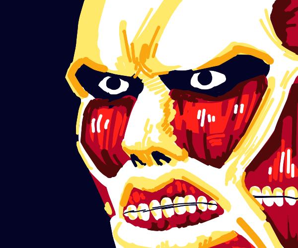 colossal titan face