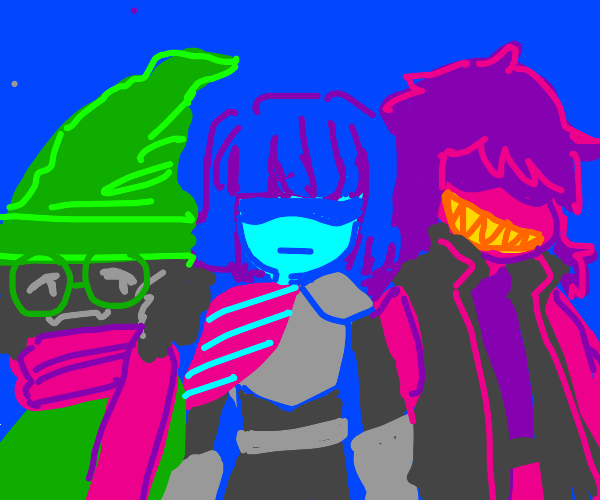 The Deltarune protagonists