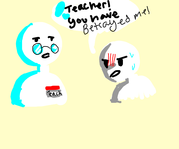 A student berated by a teacher