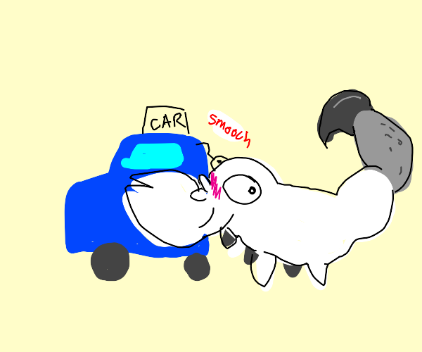 Scorpion kissing Car