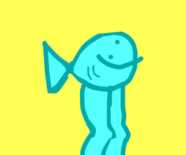 Unrealistic fish with legs