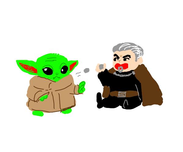 Baby Yoda vs. Baby Count Dooku