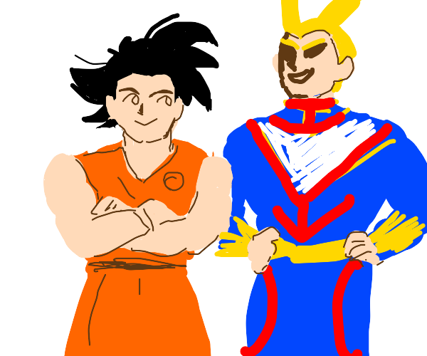 Goku and All Might