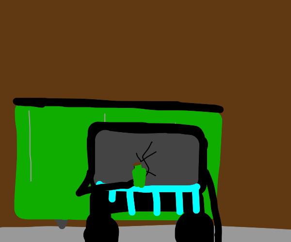 Sad TV Hobo