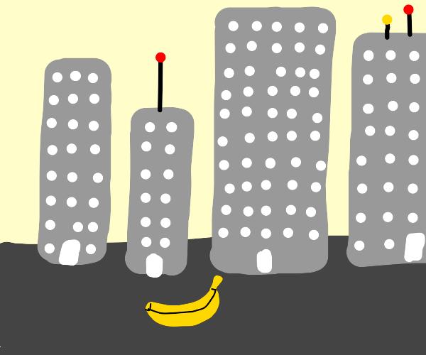 Banana in the city