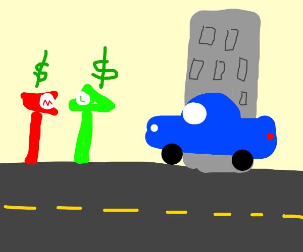 Mario and Luigi are parking meters