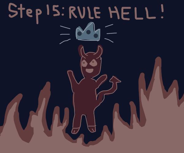 Step 14: Turn into Satan