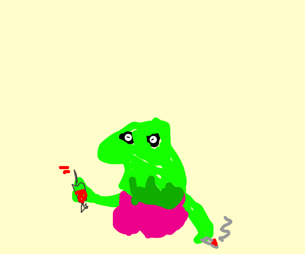 kermit the frog (female) gets hooked on drugs