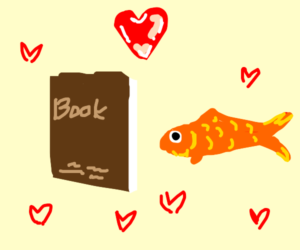 Book is in love with fish