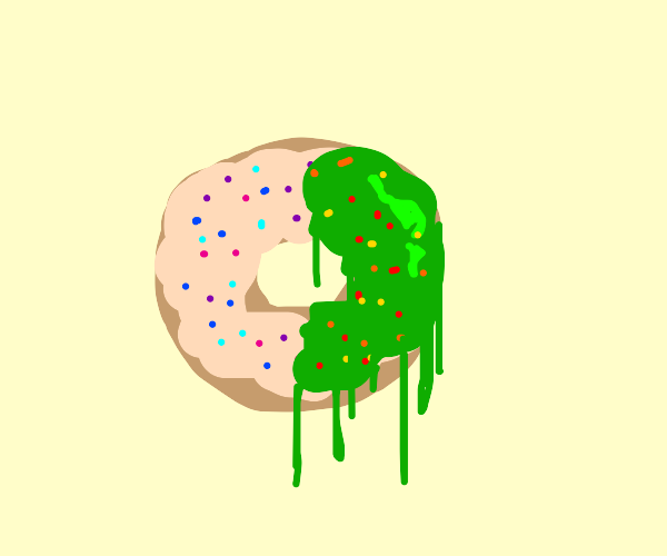half diseased donut