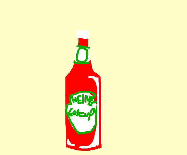 bottle of heinz ketchup