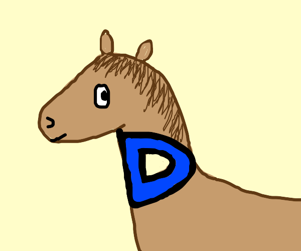 horse but with drawception d as neck