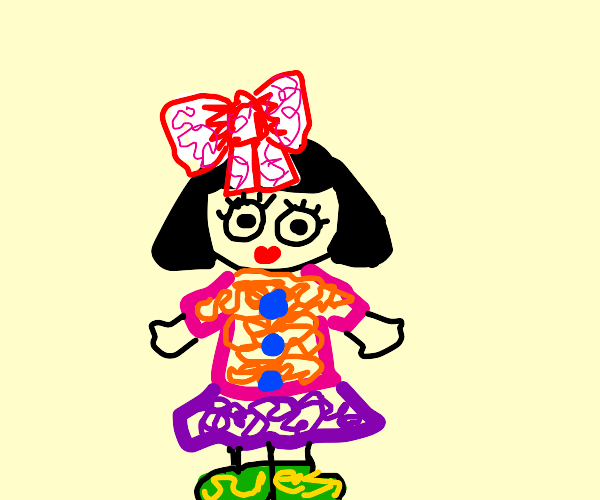 Elaborate painted doll