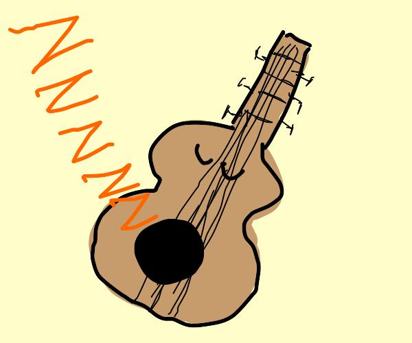 Sleeping guitar