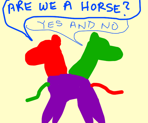 horse in colorful paradox