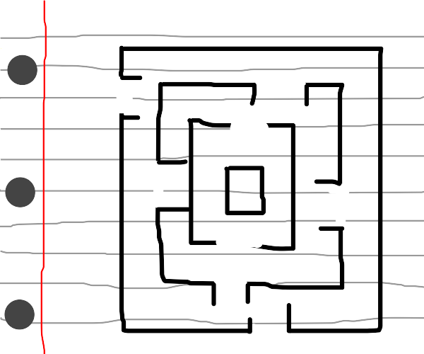 Maze on Notebook Paper
