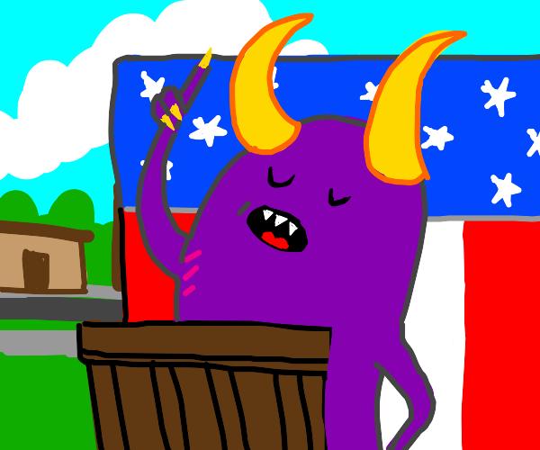 monster runs for mayor